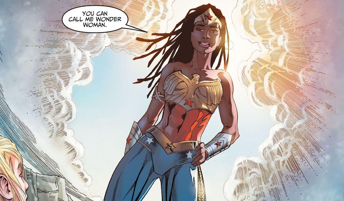 Nubia in Wonder Woman costume in the comic books