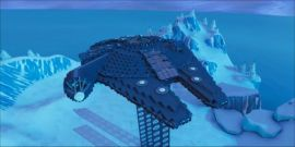 Watch How A Fortnite Player Recreated The Millennium Falcon