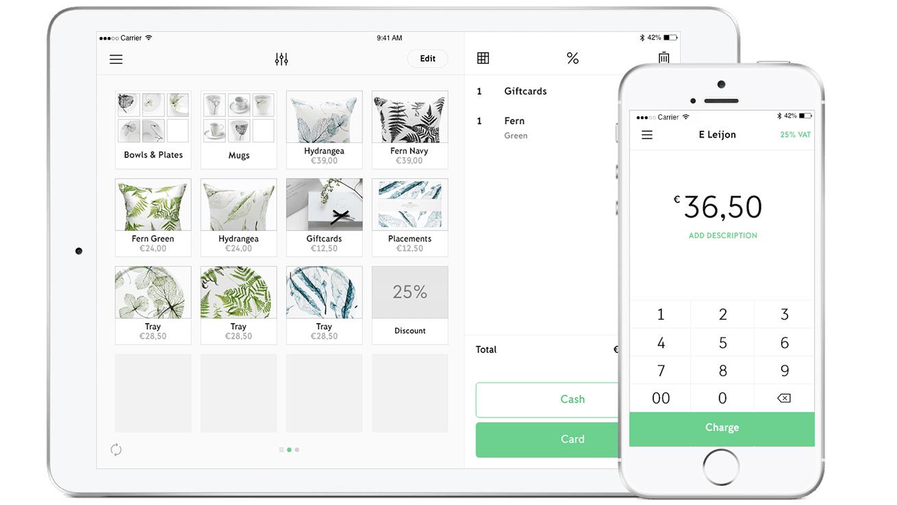 Zettle app interface