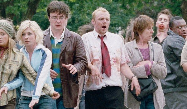 Simon Pegg and company try to be convincing zombies