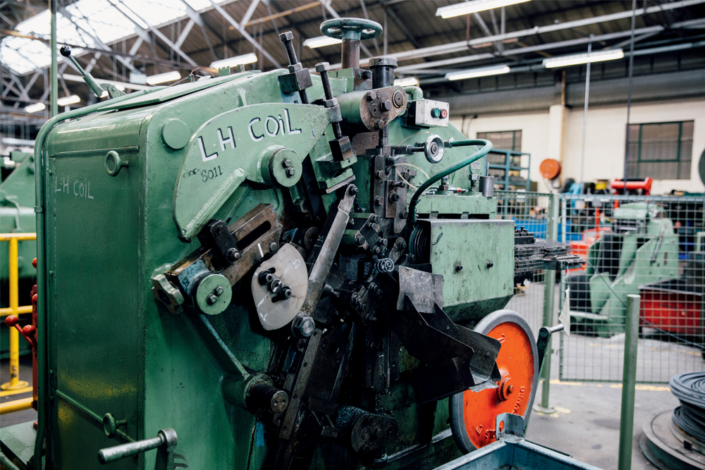 8c433725766 The machine that makes the left-hand springs can be temperamental. Photo:  Chris