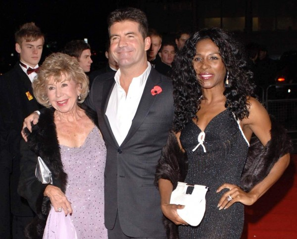 Julie and Simon Cowell, plus Sinitta