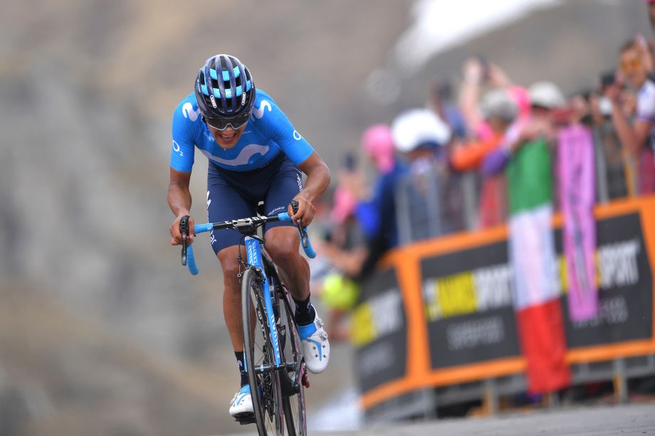 Richard Carapaz claims victory and takes the pink jersey on stage 14 of Giro d'Italia 2019