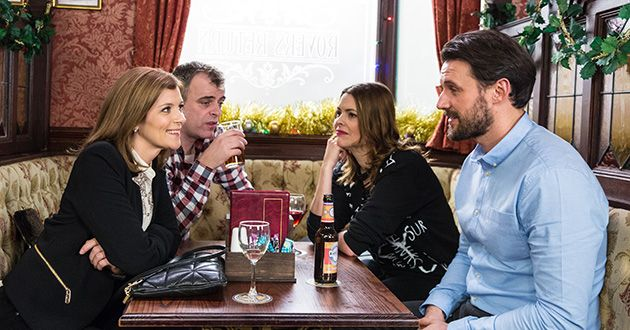 Carla Connor, Aidan Connor, Steve McDonald, Tracy Barlow