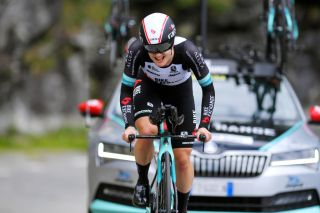 Grace Brown (BikeExchange) finishes 3rd in time trial at the Giro d'Italia Donne