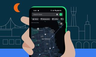 how to turn on Google Maps dark mode