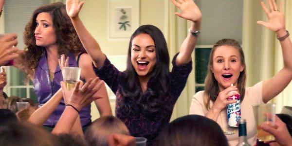 Katheryn Hahn Mila Kunis and Kristen Bell party in Bad Moms