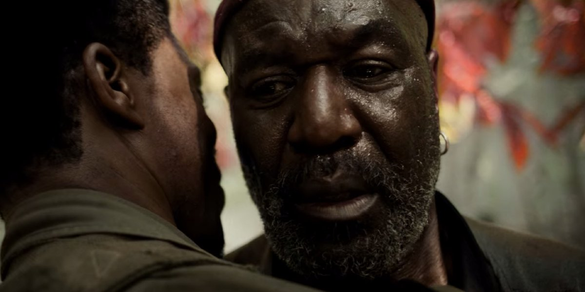 Da 5 Bloods Chadwick Boseman forgives Delroy Lindo in the jungle