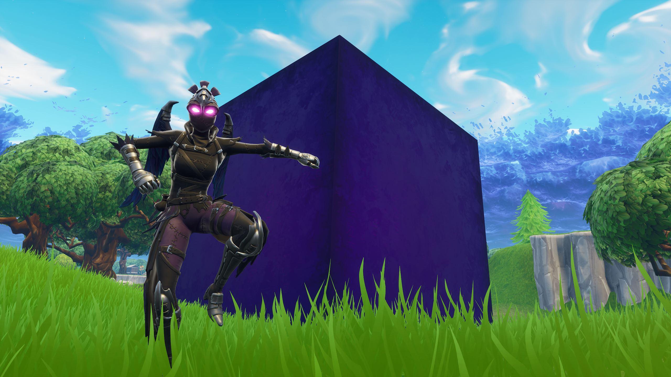 Purple Square Fortnite Cube What S In Fortnite S Mysterious Purple Cube Pc Gamer