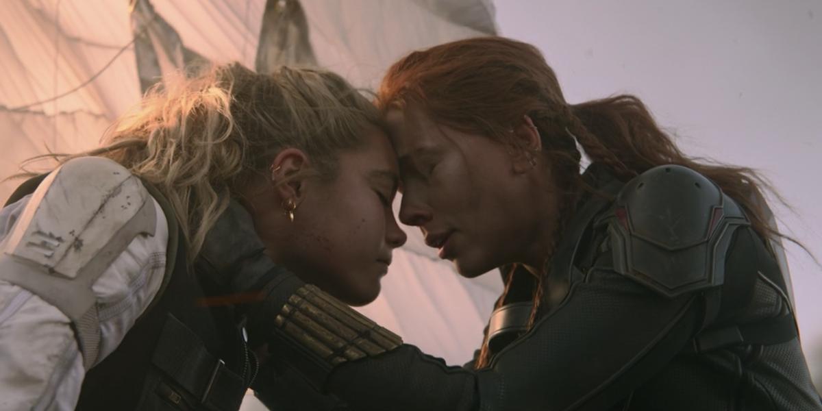 Yelena and Natasha crying in Black Widow