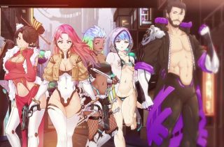 The cast of cyberpunk RPG Memoirs of a Battle Brothel