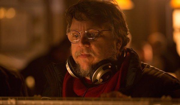 Crimson Peak Guillermo del Toro overseeing a shot