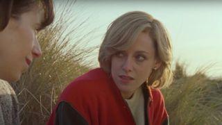 Kristen Stewart as Princess Diana in Spencer.