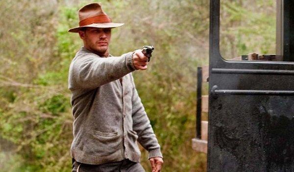 Tom Hardy pointing gun Lawless