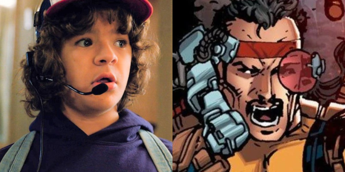 Stranger Things' Gaten Matarazzo and Forge from X-Men