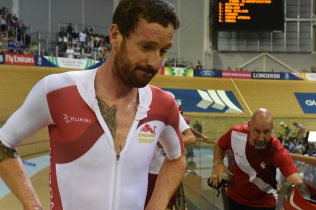 Bradley WIggins after the team pursuit final, Commonwealth Games 2014, track day one, afternoon