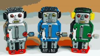 Three friendly robots