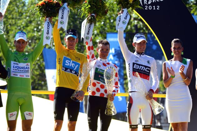 Jersey winners, Tour de france 2012, stage 20