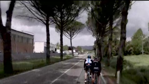 Giro stage 11 video screengrab