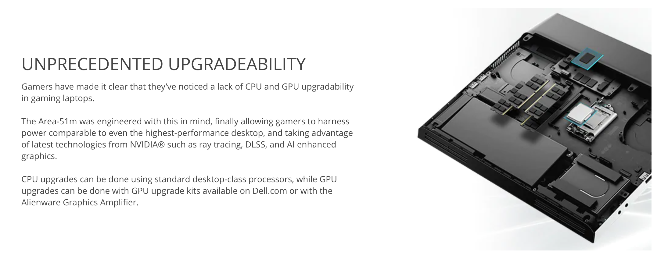 Dell upgradeability advertisement