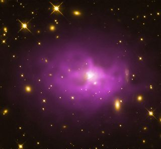 An ultramassive black hole at the center of an elliptical galaxy.