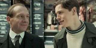 Ralph Fiennes and Harris Dickinson