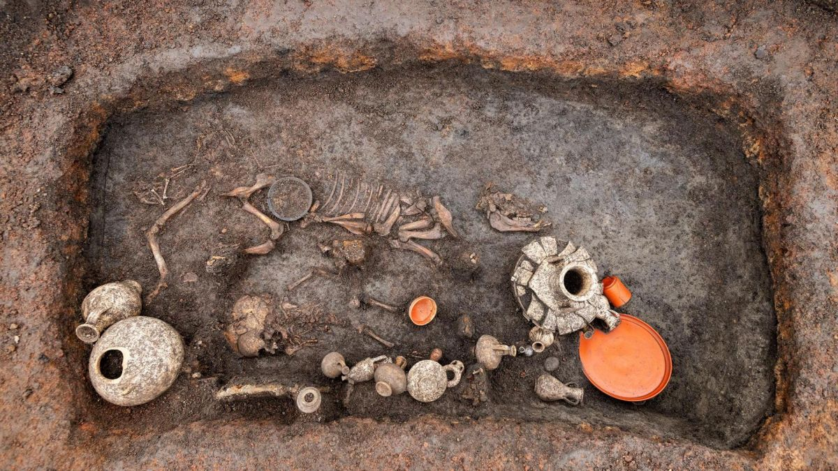 Puppy and toddler found in 2,000-year-old burial