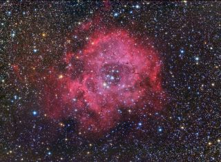 Rosette Nebula Night Sky Photo