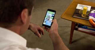 Stonefish Rebecchi shows Toadie Rebecchi a recent photo of Dee.. is she alive, in Neighbours.