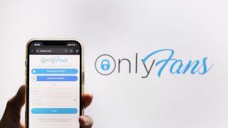 Onlyfans logo och loginskärm