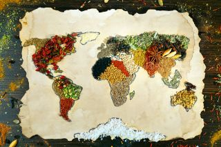 food, map, world, spices