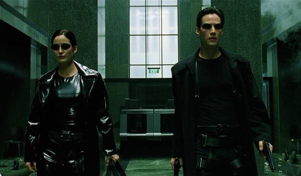 The Matrix Neo and Trinity Lobby