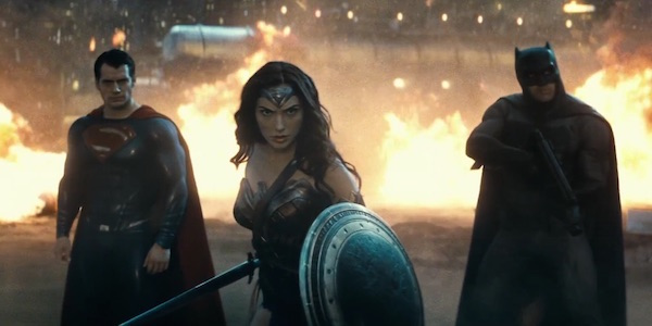 The DC Trinity in Batman v Superman: Dawn of Justice