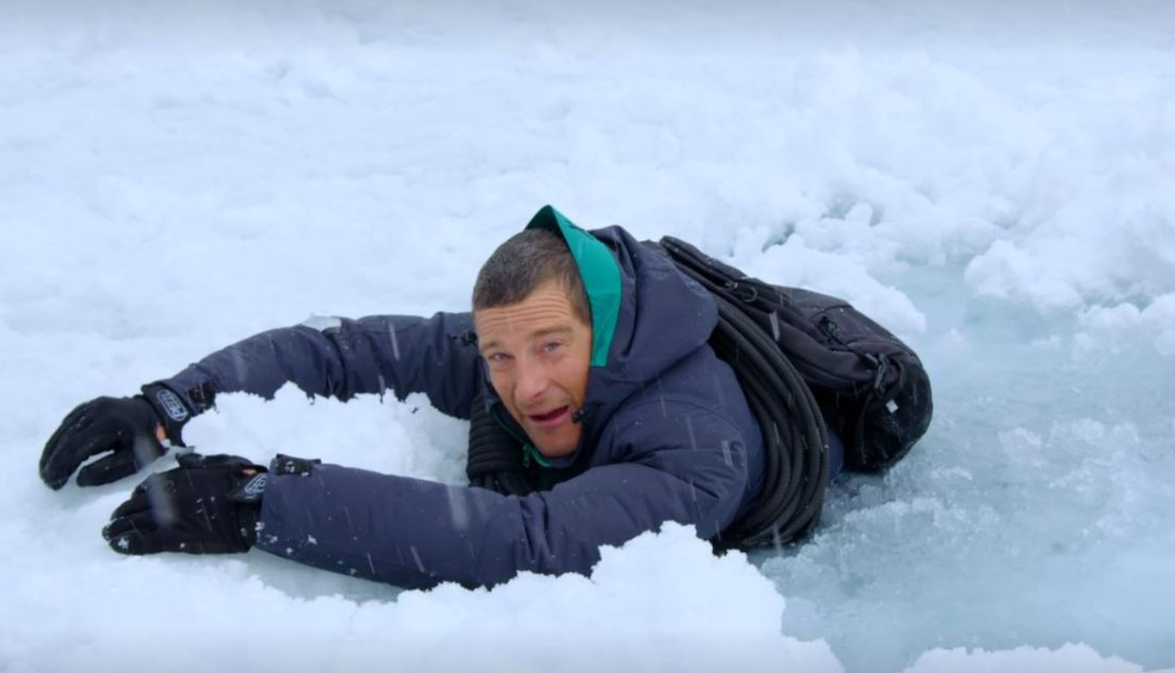 Make Bear Grylls eat bear poop in his accidentally hilarious interactive show