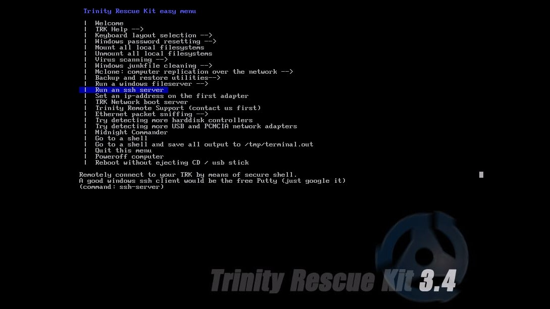 Trinity Rescue Kit's additional utilities listed