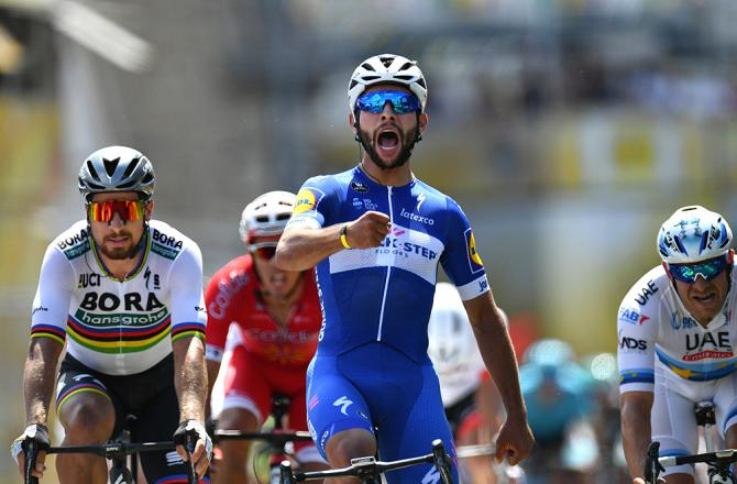 Fernando Gaviria (Quick-Step Floors) wins the opening stage at the 2018 Tour de France