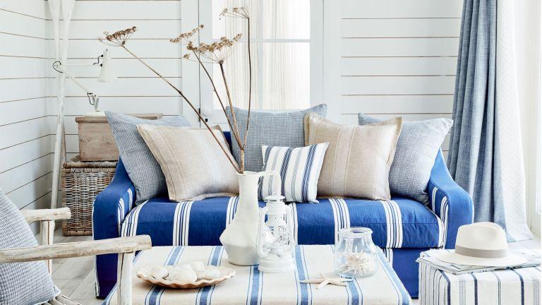 Ian Mankin coastal living room