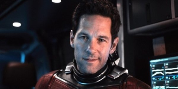 Avengers: Endgame Ant-Man smirking in suit, in front of some monitors