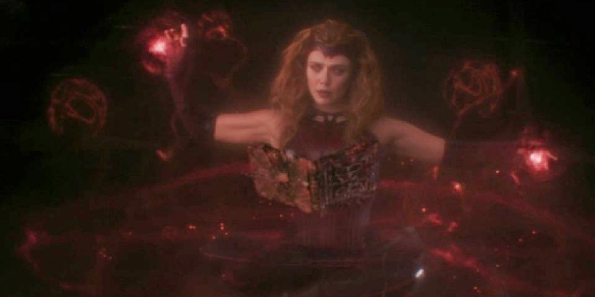 Wanda astral projecting in WandaVision.