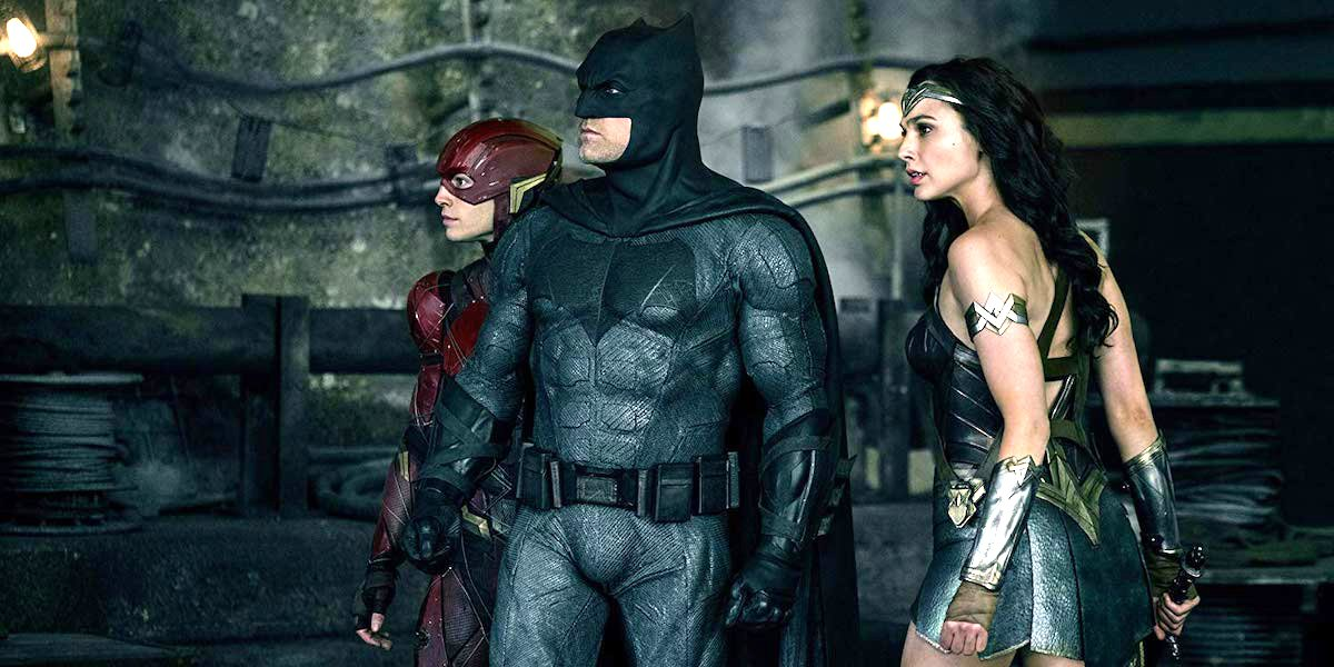 Flash, Batman and Wonder Woman in Justice League