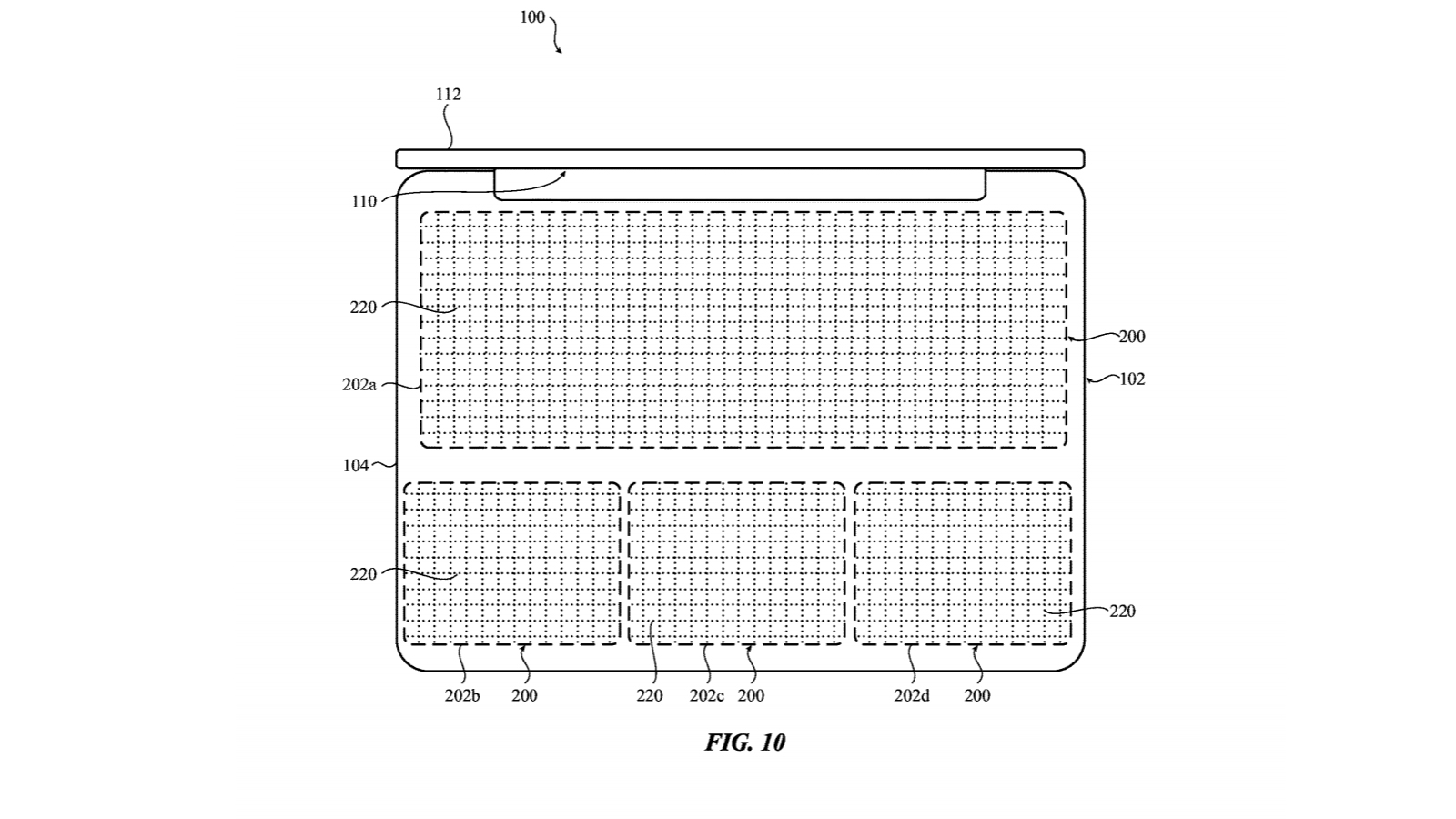 Apple Patent Diagrams For A Laptop With A Solid State Keyboard