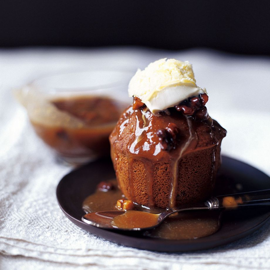 Sticky Fig and Walnut Pudding with Butterscotch Sauce Recipe