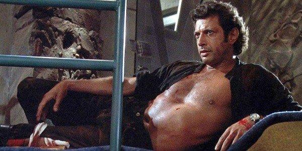 The infamous shot of Jeff Goldblum
