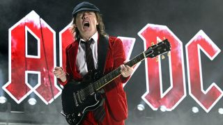 Angus Young performs live with AC/DC