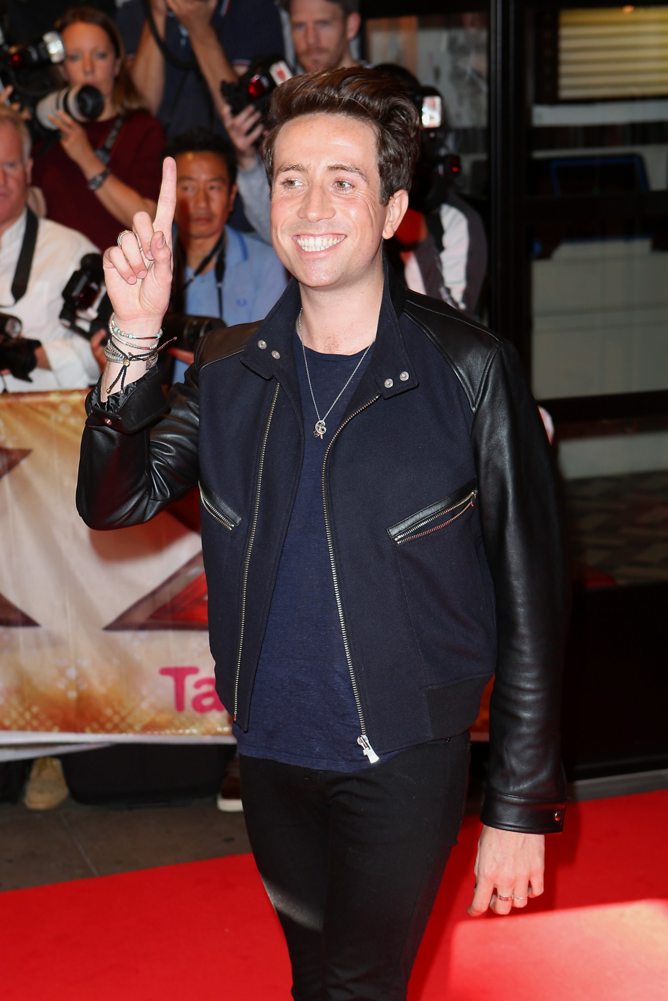 Nick Grimshaw on the red carpet at X Factor launch