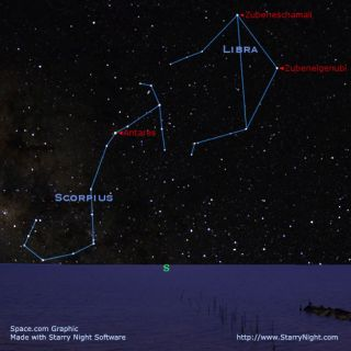 See the Celestial Scales and the Scorpion