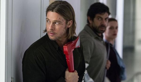World War Z Brad Pitt with axe WHO