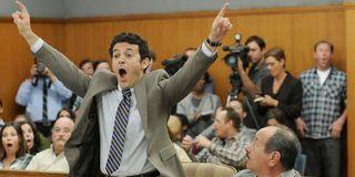 Dean celebrating in court in The Grinder