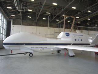 Global Hawk inside Aircraft Hangar