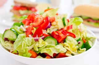 salad, low-fat diet